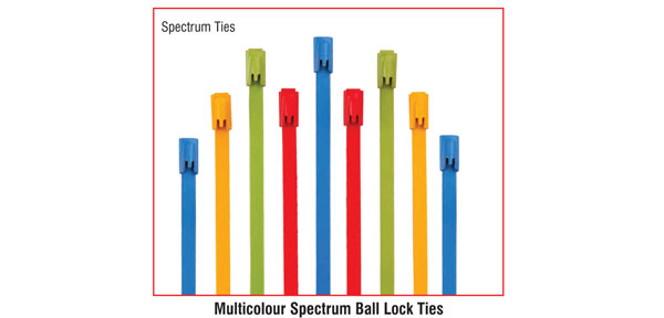 Multicolour Spectrum Ball Lock Ties